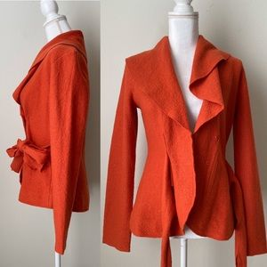 Anthropologie Roshe Netra orange wrap sweater
